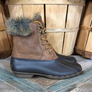 Sperry White Water Faux-Fur Lined Duck Boots